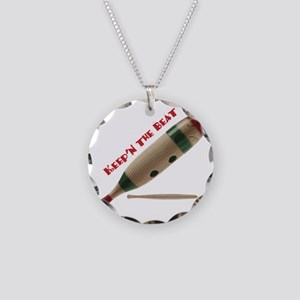 Keep'n The Beat Necklace Circle Charm