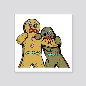 """Gingerbread Zombies Square Sticker 3"""" x 3"""""""