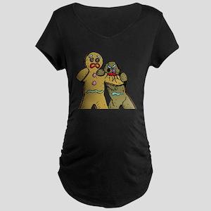 Gingerbread Zombies Maternity Dark T-Shirt