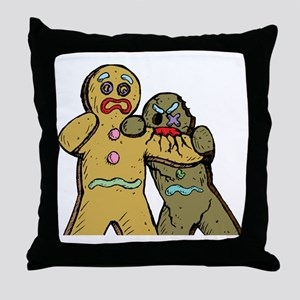 Gingerbread Zombies Throw Pillow