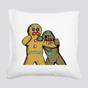 Gingerbread Zombies Square Canvas Pillow