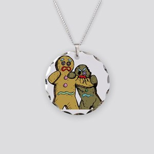 Gingerbread Zombies Necklace Circle Charm