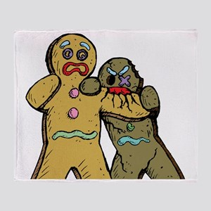 Gingerbread Zombies Throw Blanket