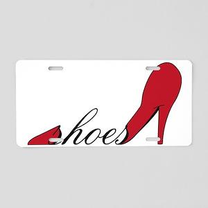 Red High Heel Shoe Aluminum License Plate