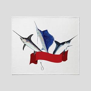 Marlin Fish Throw Blanket