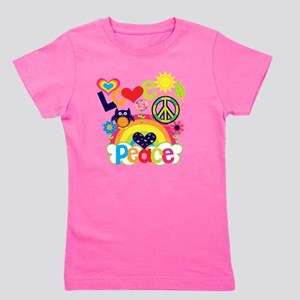 Love and Peace Girl's Tee