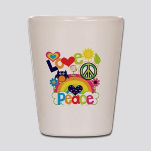 Love and Peace Shot Glass