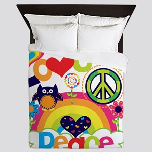 Love and Peace Queen Duvet