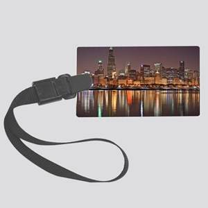 Chicago Reflected Large Luggage Tag