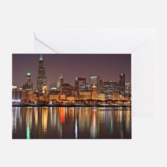 Chicago Reflected Greeting Card