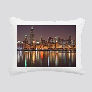 Chicago Reflected Rectangular Canvas Pillow