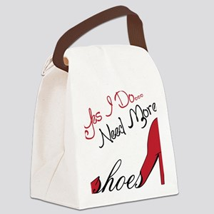 Need More Shoes Canvas Lunch Bag