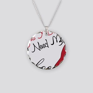 Need More Shoes Necklace Circle Charm