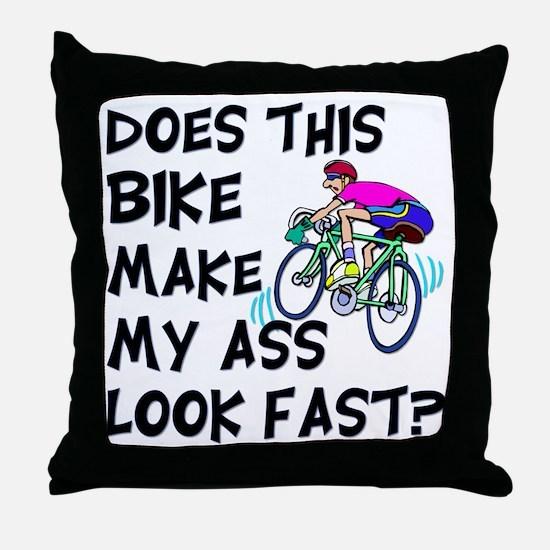 Funny Bike Saying Throw Pillow