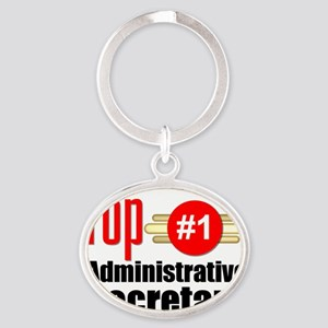 Top Administrative Secretary   Oval Keychain