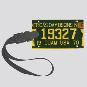 1973 Guam License Plate Large Luggage Tag