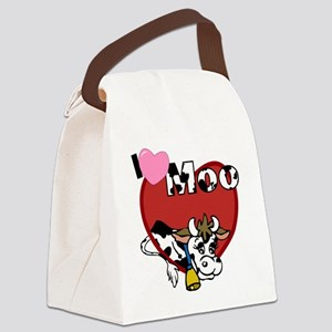 I Love Moo Canvas Lunch Bag