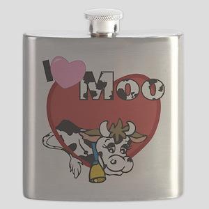 I Love Moo Flask