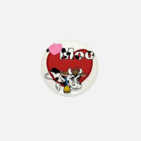 I Love Moo Mini Button