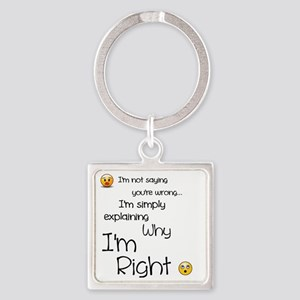 I'm right Square Keychain