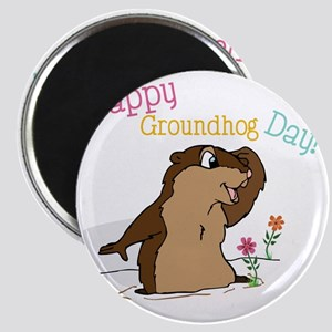 Happy Groundhog Day Magnet