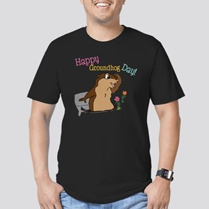 Happy Groundhog Day Men's Fitted T-Shirt (dark)