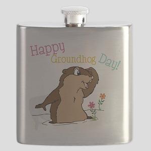 Happy Groundhog Day Flask