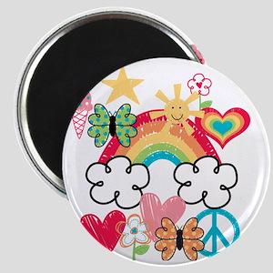 Happy Doodles Magnet