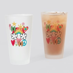 Happy Doodles Drinking Glass