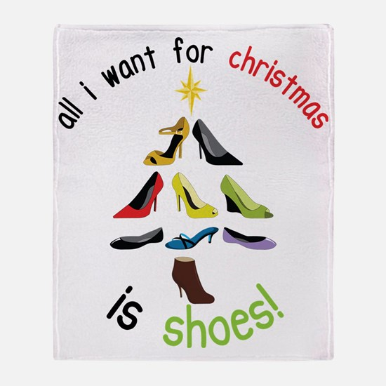 Shoes for Christmas Throw Blanket