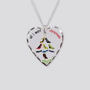 Shoes for Christmas Necklace Heart Charm