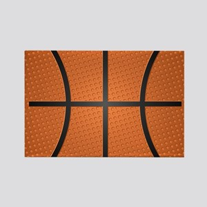 Basketball Rectangle Magnet