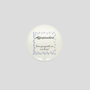 Affenpinscher Pawprints Mini Button