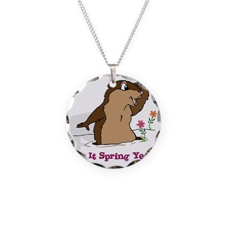 Is It Spring Yet Necklace Circle Charm