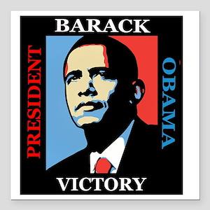"""Barack Obama Victory Square Car Magnet 3"""" x 3"""""""