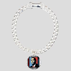 Barack Obama Victory Charm Bracelet, One Charm