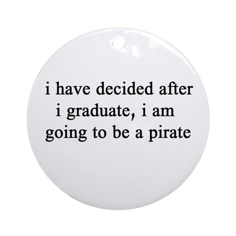 "NEW! Plain ""Pirate"" Ornament (Round)"