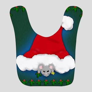 Christmas Peeking Mouse Bib