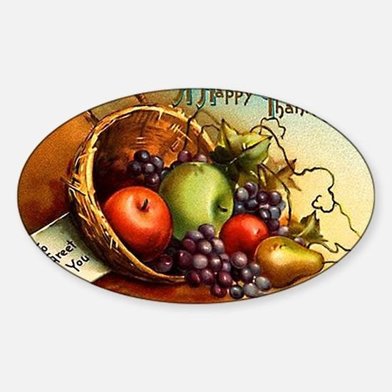 FRUIT BASKET - Sticker (Oval)