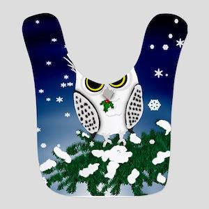 Christmas Snowy Owl Bib