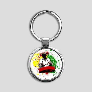 Pan Man Round Keychain
