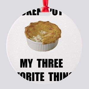 Chicken Pot Pie Round Ornament