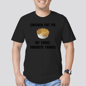 Chicken Pot Pie Men's Fitted T-Shirt (dark)