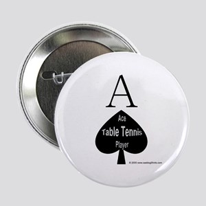 """Table Tennis Smiley 2.25"""" Button (10 pack)"""