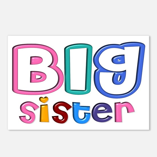 34 Effect Big Sister Desi Postcards (Package of 8)