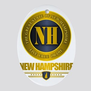 New Hampshire Gold Label Oval Ornament