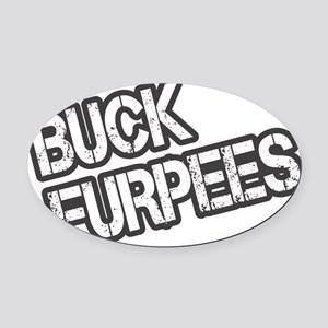 Buck Furpees Oval Car Magnet