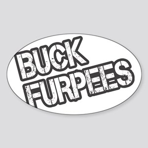 Buck Furpees Sticker (Oval)