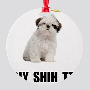 Holy Shih Tzu Round Ornament
