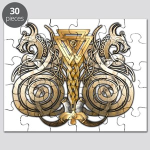 Norse Valknut Dragons Puzzle